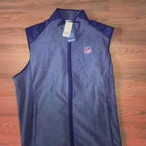 Official NFL blue sweater vest with zipper